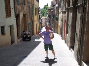 Me in Siena, calves considerably thicker