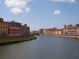 Pisa, Looking East Along the Arno